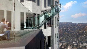 70th floor glass slide